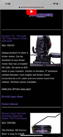 Outboard Electro-steering kit