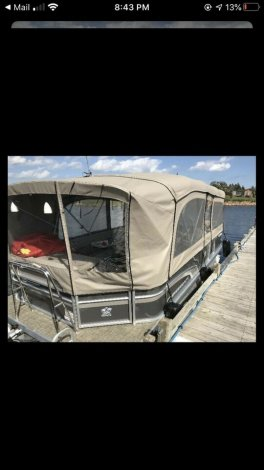 2017 Princecraft Pontoon Vectra with trailer