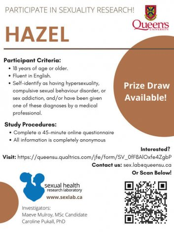 Sexuality Research Participants Needed! (Hazel Study)