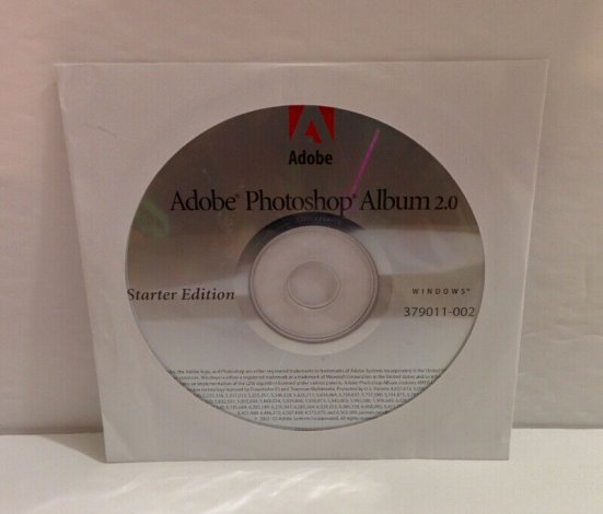 ADOBE PHOTOSHOP ALBUM 2.0 STARTER EDITION CD NEW