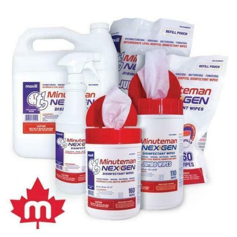 Disinfectant Wipes by maxill - Evidence against COVID-19 by Health Canada