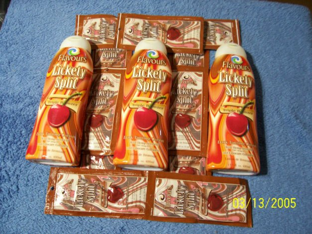Tanning Lotion 1 large bottles 1 packet USA Made lickety spli