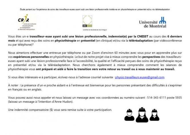 Participants.es recherchés.es - indemnité compensatoire ($)