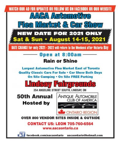 AACA 50th ANNUAL AUTOMOTIVE FLEA MARKET & CAR SHOW