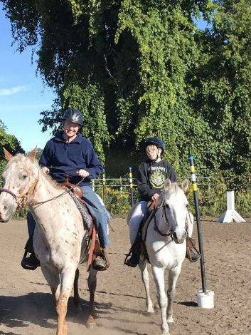 Outdoor riding lessons