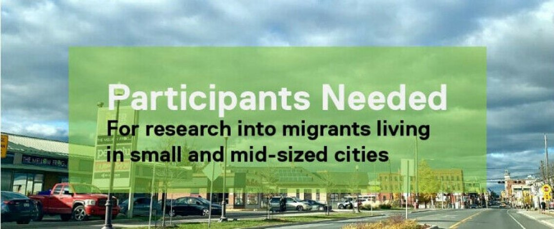 Participants for Online Study on Migrants in Small Cities