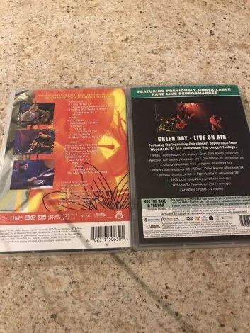 Green Day & Nirvana concert DVDs