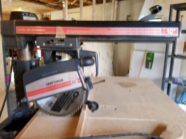 Craftsman 10 in radial arm saw with stand